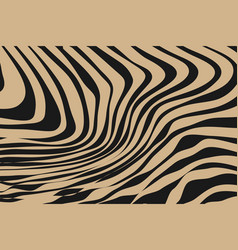 close up stripe animal pattern vector image