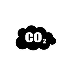 co2 emissions icon cloud flat vector image