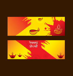 creative greeting design of diwali festival vector image