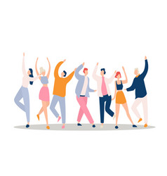 dance party flat night club vector image