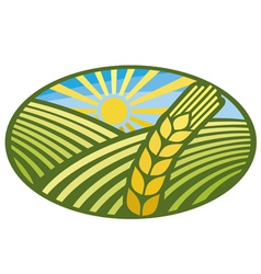 Farming Wheat Symbol vector