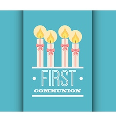 first communion card design vector image