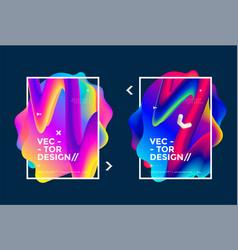 fluid frame design vector image