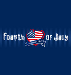 fourth july united states independence day hear vector image