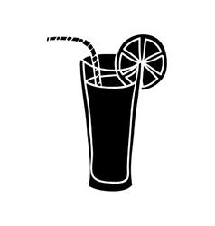 fruit juice glass icon image vector image