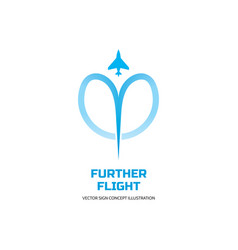 further flight - logo template concept vector image