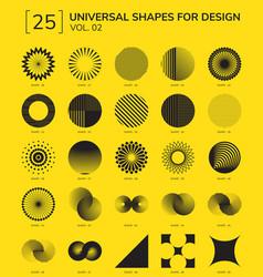 geometric shapes logo vector image