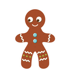 Gingerbread man christmas cookie new year bakery vector