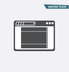 gray landing page icon isolated on background mod vector image
