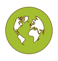 Green planet earth icon image vector