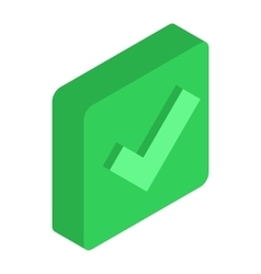 Green square element icon isometric 3d style vector image