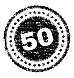 Grunge textured 50 stamp seal vector