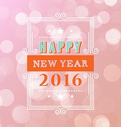 happy new year typographic design white background vector image