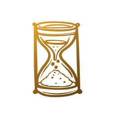hourglass icons vector image