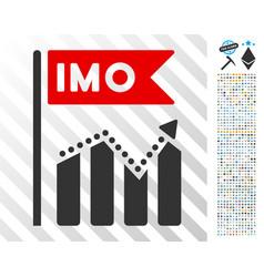 Imo chart trend flat icon with bonus vector