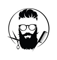 Logo for hairdresser black and white logo for vector