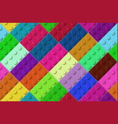 many color toy blocks top view seamless pattern vector image