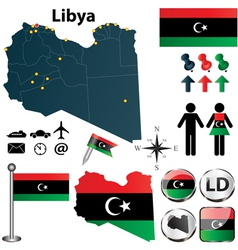 Map of Libya vector image