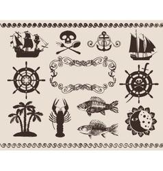 marine theme vector image