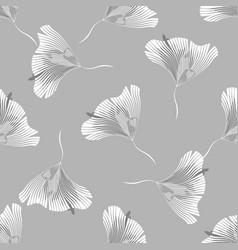 monochrome floral texture decorative leaves vector image