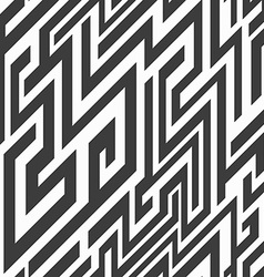 Monochrome line seamless pattern vector
