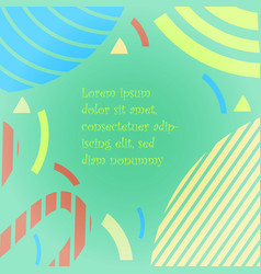 Multicolored shapes on the turquoise background vector