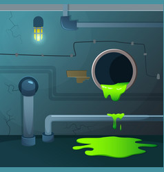 old basement acid dripping from pipe game vector image