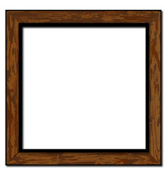 Old weathered picture frame vector