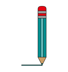 Pencil with eraser icon image vector