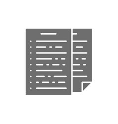 pile of documents report declaration grey icon vector image
