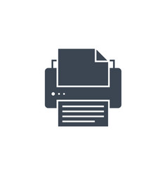 printer related glyph icon vector image
