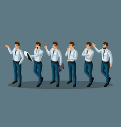 quality isometry men corporate lifestyle clothing vector image