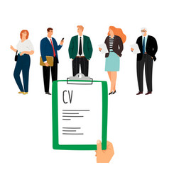 recruitmenthr choose employees vector image