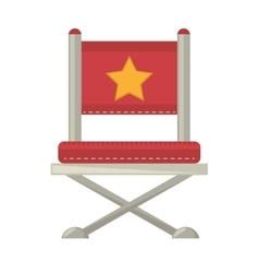 Red chair star director film vector