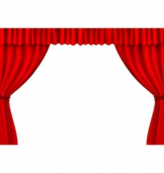 red stage curtains vector image