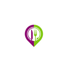 restaurant food position logo vector image