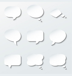 round paper speech and think bubbles set vector image