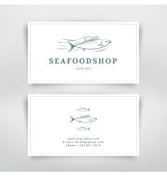Seafood card vector