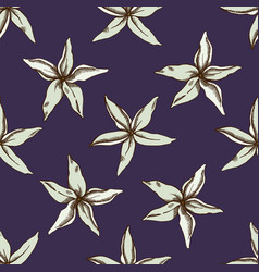 seamless pattern with hand drawn colored hancornia vector image