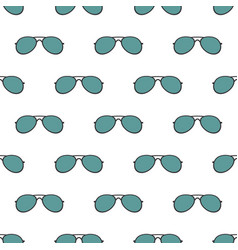 seamless pattern with sunglasses on white vector image