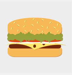 Set classic burger vector
