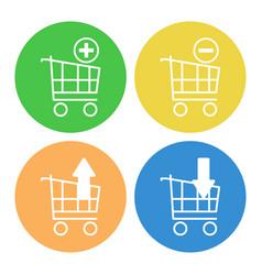 Set shopping carts icons vector