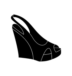 Shoes on platform vector image