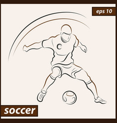 shows a football player vector image