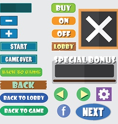 Simple game buttons vector image