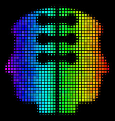 Spectral colored dot dual head interface icon vector