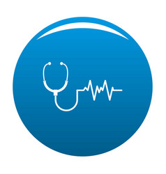 stethoscope icon blue vector image