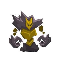 stone golem monster fantasy mystic creature vector image