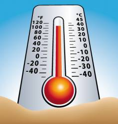 summer thermometer vector image
