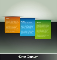 Tab option page template vector